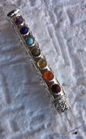 Baguette du thérapeute, Cristal de Roche, minéraux 7 chakras