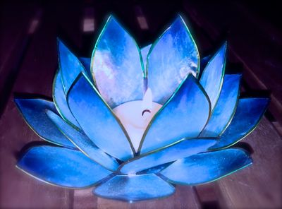 lotus et flamme bougie Aquarienne