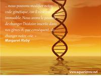 nous pouvons changer l`histoire inscrite dans nos gènes - Dans son livre Reconquérir son ADN, Margaret Ruby nous offre une métthode en 5 étapes.