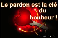Le pardon est la clé du bonheur, le pardon offre tout ce que je veux extrait d`Un Cours en Miracles