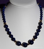 Collier Lapis Lazuli Plaqué Or 'Deep Blue'