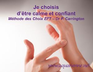 La magie de la Méthode des Choix EFT du Dr Patricia Carrington. Je choisis d`être calme et confiant.
