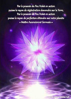 Appel au pouvoir transmutant du Feu Violet en action