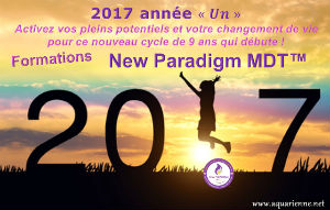 2017 année un : activez vos pleins potentiels et votre changement de vie pour ce nouveau cycle de 9 ans avec les formations New Paradigm MDT