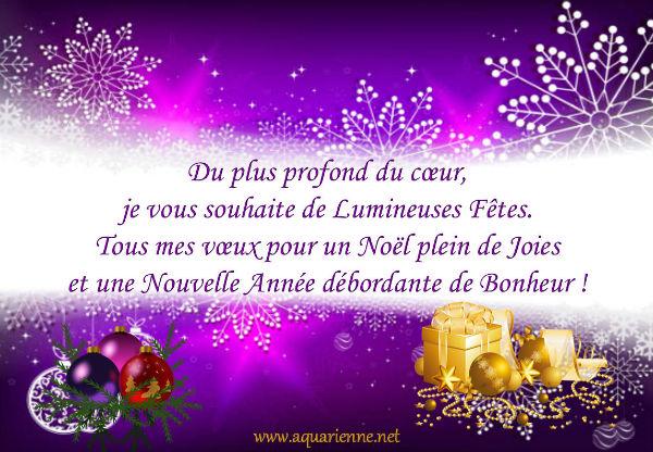 Du plus profond du coeur, je vous souhaite de Lumineuses Fêtes. Tous mes voeux pour un Noël plein de joies et une nouvelle Année débordante de Bonheur