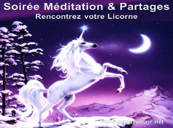 Soirée Méditation et partages le 17/09/2016 : Rencontrez votre Licorne
