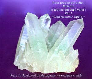 quartz à inclusions de fuschite de Madagascar