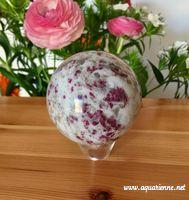 Sphère de Tourmaline rose ou Rubellite excellente pour le chakra du coeur