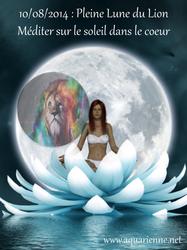 Super lune du 10 aot 2014 - Méditation sur le soleil dans le coeur